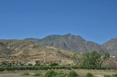 Panorama of Sierra Nevada Mountains. In Andalucia -  Spain Royalty Free Stock Photography