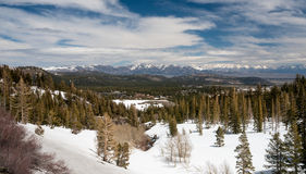 Panorama of Sierra Nevada mountains and Mammoth lakes Royalty Free Stock Photo