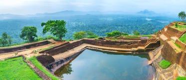 Panorama of Sigiriya cistern Stock Images