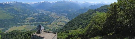 panorama- sikt Arkivfoto