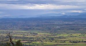 Panorama- sikt av ALT EMPORDÃ Royaltyfri Bild