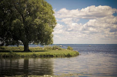 Panorama- sikt av Bolsena arkivfoton