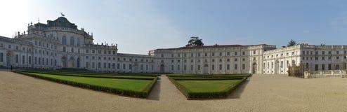 Panorama- sikt av det Stupinigi slottet, Turin, Italien Royaltyfri Foto