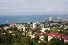 Panorama- sikt av konstruktionslokalen av Sochi Royaltyfri Fotografi