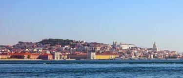 Panorama- sikt av lisbon Arkivbilder