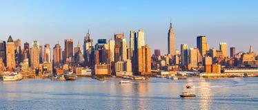 Panorama- sikt av Manhattan Royaltyfria Bilder