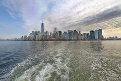 Panorama- sikt av Manhattan nya USA york Royaltyfri Foto