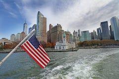 Panorama- sikt av Manhattan nya USA york Royaltyfri Fotografi