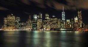 Panorama- sikt av Manhattan nya USA york Arkivfoton