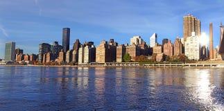 Panorama- sikt av Manhattan nya USA york Royaltyfria Foton