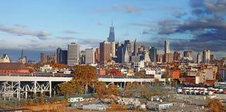 Panorama- sikt av Manhattan nya USA york Royaltyfria Bilder