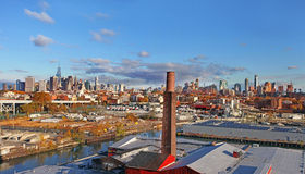 Panorama- sikt av Manhattan nya USA york Arkivbilder