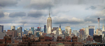 Panorama- sikt av Manhattan nya USA york Royaltyfri Bild