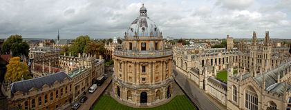 Panorama- sikt av Oxford Royaltyfri Bild