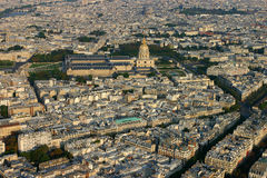 Panorama- sikt av Paris Arkivfoto