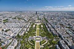 Panorama- sikt av Paris Arkivbilder