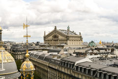 Panorama- sikt av Paris Royaltyfri Bild