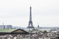 Panorama- sikt av Paris france Arkivfoto