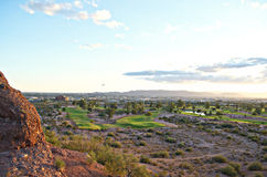 Panorama- sikt av Phoenix, AZ Arkivfoton