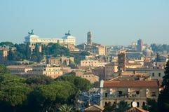 Panorama- sikt av Rome Royaltyfri Fotografi