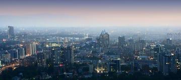 Panorama- sikt av staden Fotografering för Bildbyråer