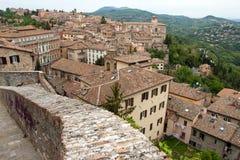 Panorama- sikt av staden av Perugia Royaltyfri Fotografi