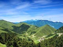 panorama- sikt för alpina berg Fotografering för Bildbyråer