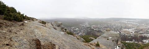 panorama- sikt för bakhchisaray berg royaltyfri fotografi