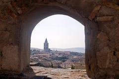 panorama- sikt för basilicata italy melfi Arkivfoto