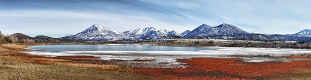 panorama- sikt för colorado berg fotografering för bildbyråer