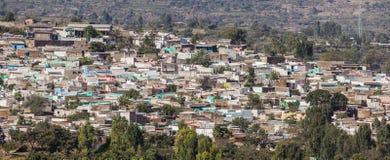 Panorama- sikt för fågelöga av staden av Jugol Harar ethiopia Arkivbilder