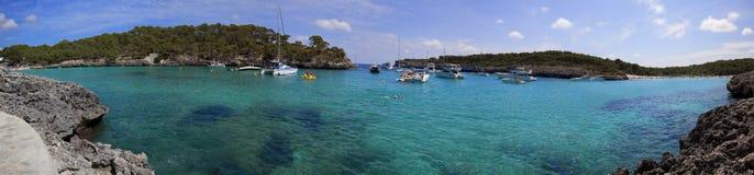 panorama- sikt för härlig lagun Arkivfoton