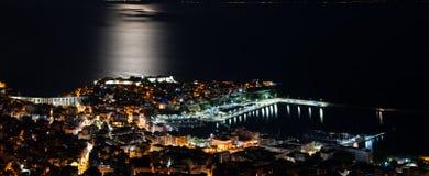 panorama- sikt för stad Arkivbilder