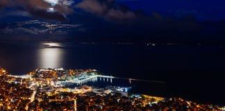 panorama- sikt för stad Arkivbild