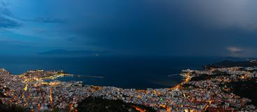 panorama- sikt för stad royaltyfri foto