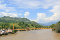 panorama- sikt för stad La Pintada, Antioquia, Colombia Royaltyfri Foto