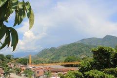 panorama- sikt för stad La Pintada, Antioquia, Colombia Fotografering för Bildbyråer