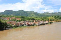 panorama- sikt för stad La Pintada, Antioquia, Colombia Royaltyfria Bilder