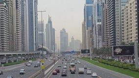panorama- sikt för stadsdubai metro Arkivbild