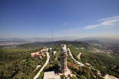 Panorama- sikt från Tibidabo område Royaltyfri Bild