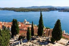 Panorama- sikt på den Sanktt James domkyrkan Royaltyfria Foton