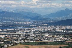 Panorama- sikt på Geneva Royaltyfri Foto
