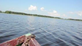 Panorama- sikt sjö stock video