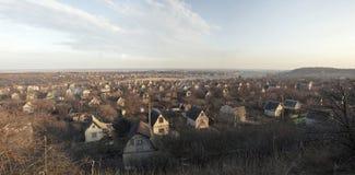 panorama- siktsby Arkivbild