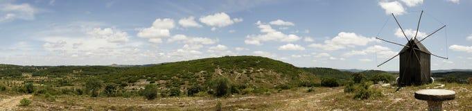 panorama- siktswindmill Royaltyfri Bild