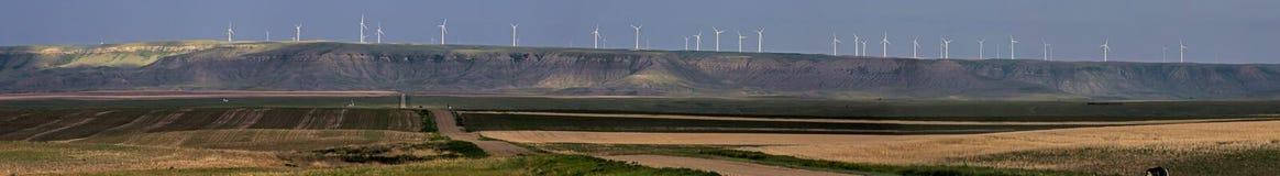 Panorama silniki wiatrowi zdjęcia royalty free