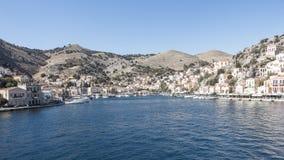 Panorama Simi Town Lizenzfreies Stockfoto