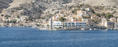 Panorama Simi Town Imagens de Stock