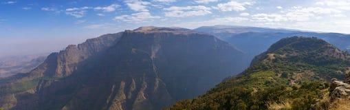 Panorama Simien gór park narodowy w Etiopia obraz royalty free