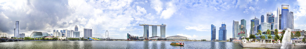panorama singapore Royaltyfria Bilder